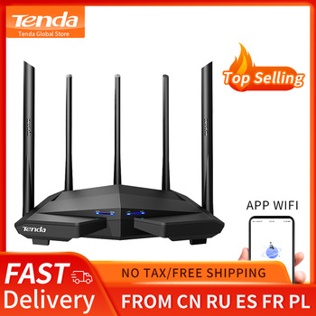 Tenda AC11 AC1200 Wifi Router Gigabit 2.4G 5.0GHz Dual-Band 1167Mbps Wireless Router Wifi Repeater with 5 High Gain Antennas 1
