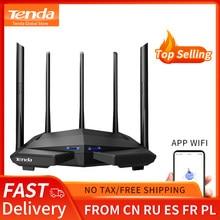 Tenda ac11 ac1200 wifi roteador gigabit 2.4g 5.0ghz dupla-faixa 1167mbps roteador sem fio wi-fi repetidor com 5 antenas de ganho alto