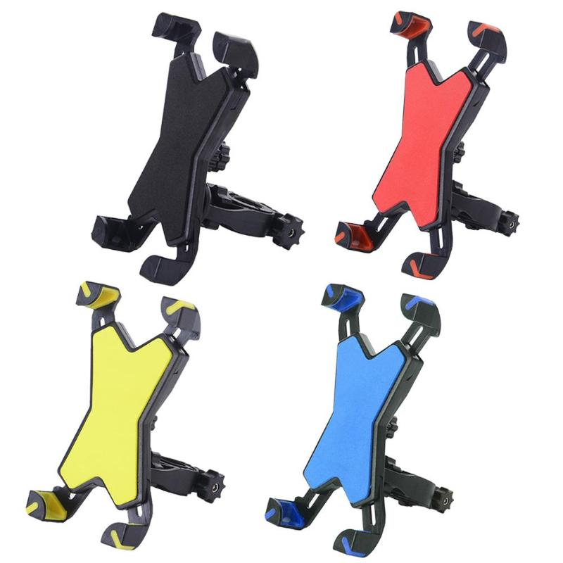 Bicycle Motorcycle Phone Holder Bike Handlebar Mount Stand Support Bracket For 3.5-6.5 Inch Mobile Cell Phone GPS