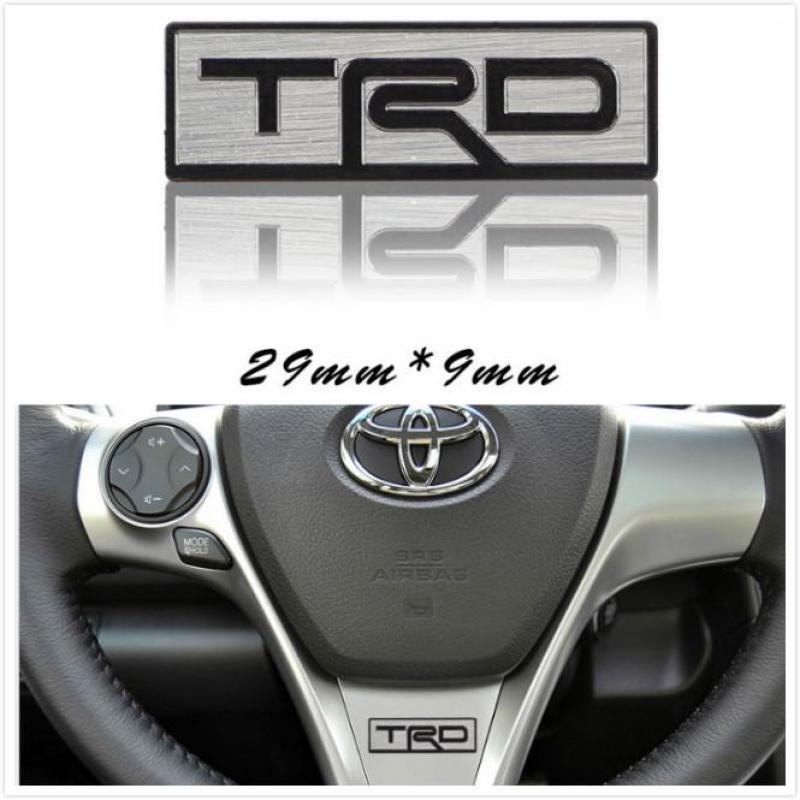 TRD FOR Toyota Racing Development Emblem Sticker Decal Rear Tailgate Badge Metal