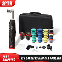 SPTA Cordless Mini Car Polisher, 12V RO/DA Micro Cordless Scratches Killer Car Polisher With 2 Battery for polishing, Sanding