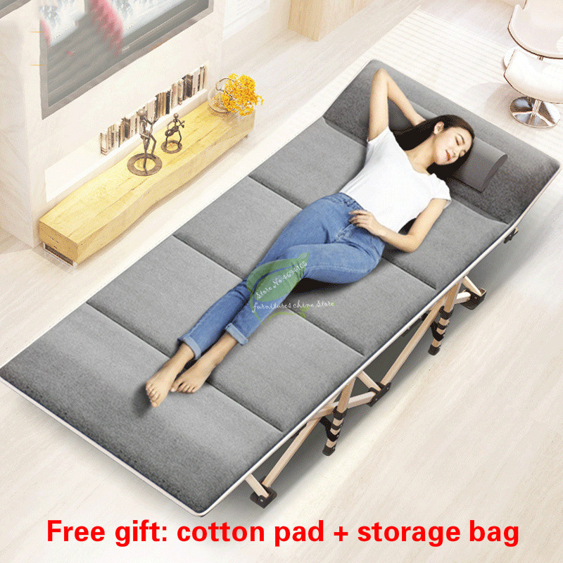 New Folding Bed Winter/Summer Nap Couch Recliner Chair Fishing Beach Cushion Cover Mattress Bed Laying Siesta Deck Chair