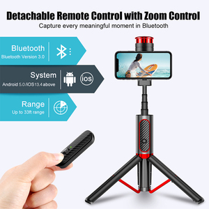 Image 1 - Cafele Wireless Bluetooth Selfie Stick For Huawei iPhone Xiaomi Extendable Foldable Monopod For Phone Camera Remote Control
