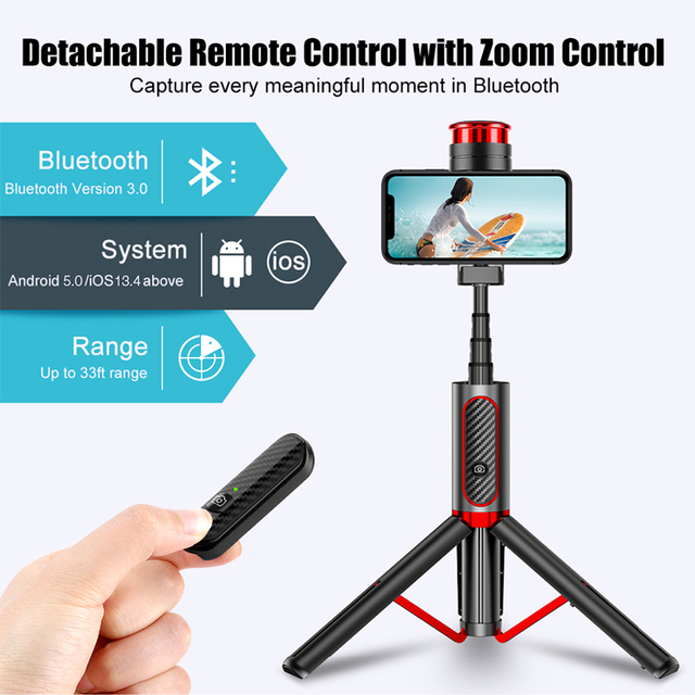 Cafele Wireless Bluetooth Selfie Stick For Huawei iPhone Xiaomi Extendable Foldable Monopod For Phone Camera Remote Control