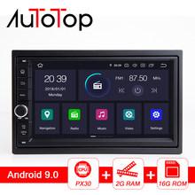"AUTOTOP 7"" Android 9.0 Car Radio 2Din Head Unit Universal for Nissan/Chevrolet/Mitsubishi/Buick/Hyundai Wifi Mirrorlink NO DVD(China)"