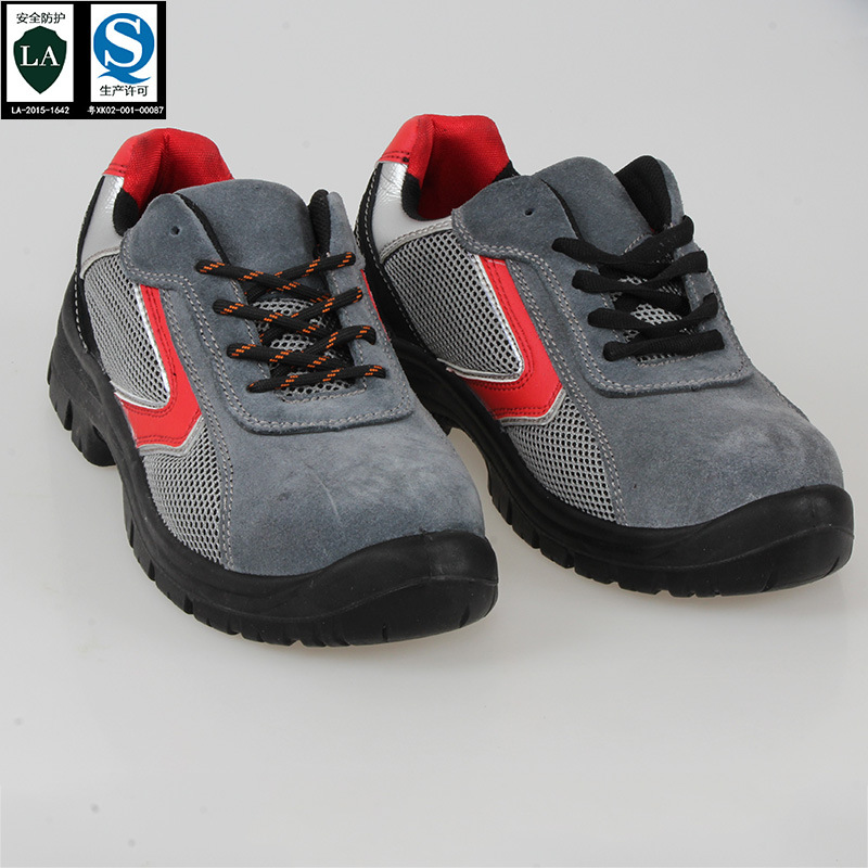 2019 New Style Summer Suede Leather Anti-smashing And Anti-penetration Anti-slip Hiking Shoes Mining Breathable Casual Anti-Wear