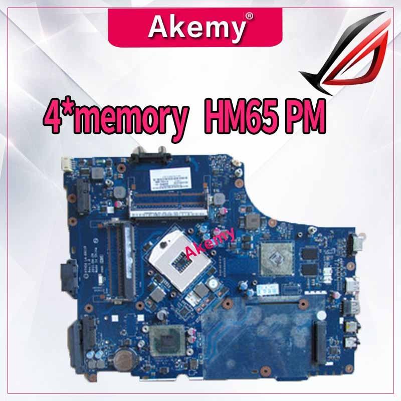 P7YE0 LA-6911P Laptop Motherboard For Acer Aspire 7750 7750G MBBVV02001 MB.BVV02.001 4*memory HM65 DDR3 HD6630 100% Tested