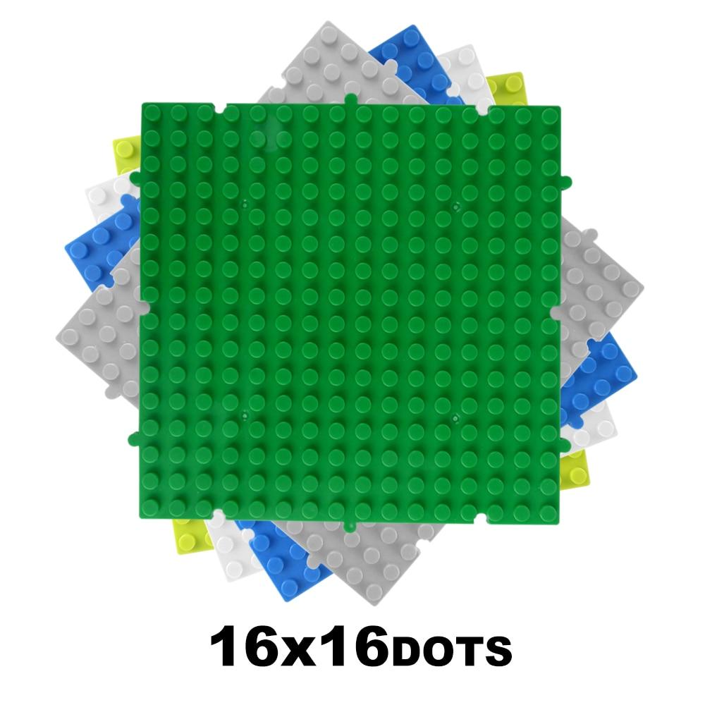 4PCS 16*16 Dots Splice Classic Base Plates Compatible LegoINGlys Baseplates City Dimensions Building Blocks Construction Toys