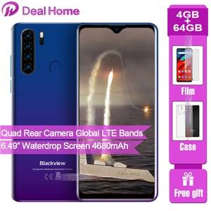 Blackview A80 Pro смартфон с 6,3-дюймовым дисплеем, четырёхъядерным процессором, ОЗУ 4 Гб, ПЗУ 64 ГБ, глобальная Версия Мобильный телефон