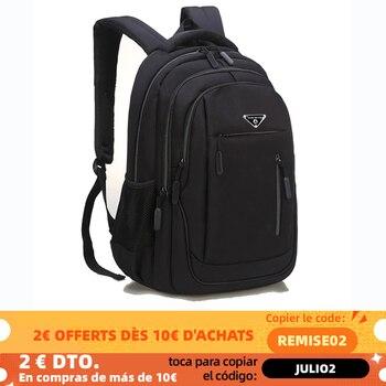 SUUTOOP Large Capacity Men Backpack Laptop 15.6 Oxford Solid Multifunctional School Bags Travel Schoolbag Back Pack for Male 1