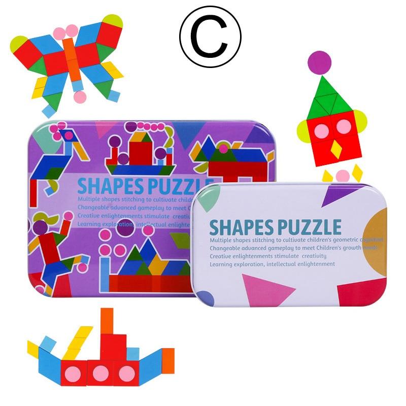 Crianças forma 3d puzzle board crianças brinquedos