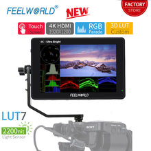 FEELWORLD LUT7 7 inch Camera Field Monitor 2200nits Touch Screen 3D LUT 4K HDMI Monitor with Waveform VectorScope Histogram Mode