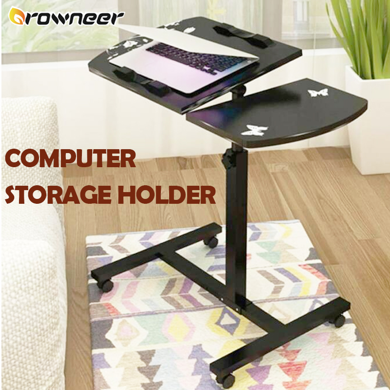 Computer Storage Holder Stand Lap Lazy Table 360 Angle Adjustable Portable Desk Wood Steel Round Corners Stable Sofa Bed Tray