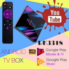 H96 MAX RK3318 Smart TV Box Android 9.0 4GB Ram 32GB 64GB Ro
