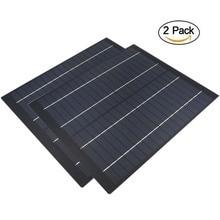 2 قطعة x 18 فولت الشمسية لوحة متعدد البلورات 5 واط 10 واط 20 واط الشمسية تهمة لشحن بطارية 12 فولت 5 10 20 30 40 50 60 واط واط واط واط