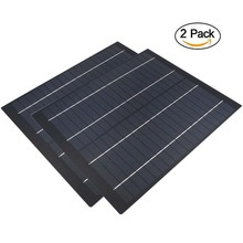 2 個の x 18V ソーラーパネル多結晶 5 ワット 10 ワット 20 ワットソーラー携帯充電用 12V バッテリー充電器 5 10 20 30 40 50 60 ワットワットワット