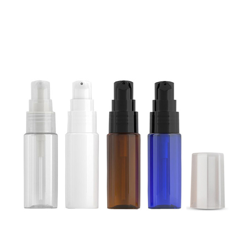 20ml White Empty Cosmetic Container With Lotion Cream Pump 20g Skin Care Cream Treatment Bottles Travel Size Makeup Setting Pump