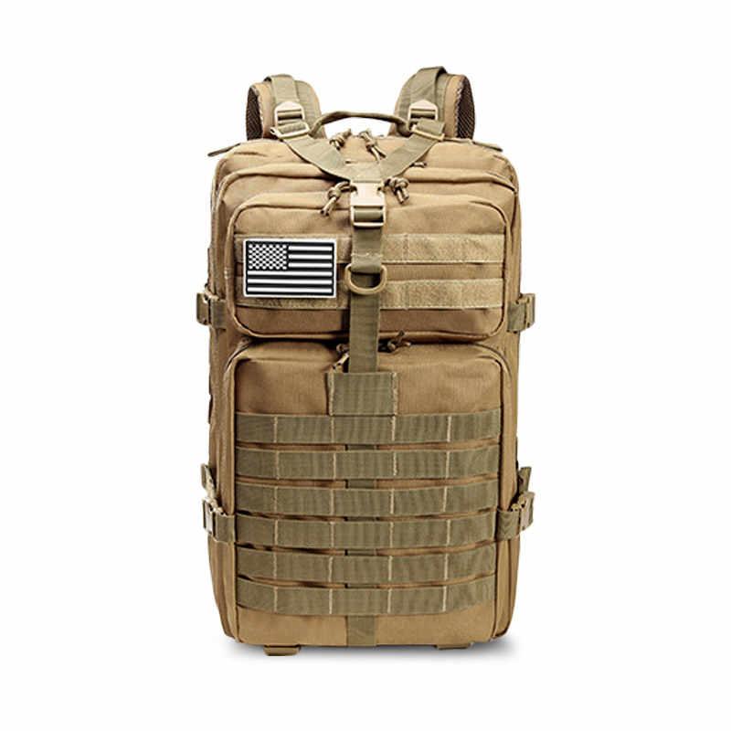 Yeni 50L 3D açık spor büyük kamp tırmanma balıkçılık sırt çantası avcılık su geçirmez askeri taktik seyahat açık erkek çantası