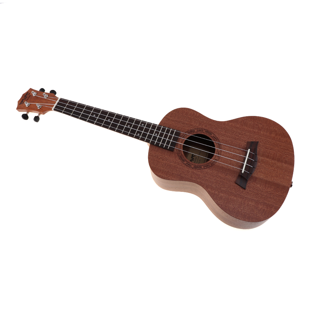 Купить с кэшбэком 26 Inch Ukulele 4 Nylon Strings Musical Instruments 18 Frets Mahogany Hawaiian Tenor Ukulele Acoustic Cutaway Guitar