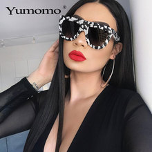 2020 new square sunglasses ladies brand designer retro marble color fashion