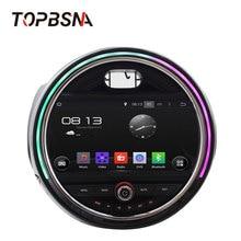 TOPBSNA 1 DIN reproductor de DVD para coche Android 6,0 para BMW Mini Cooper 2015, 2016 de 2017 Auto Radio navegación GPS Video WiFi volante