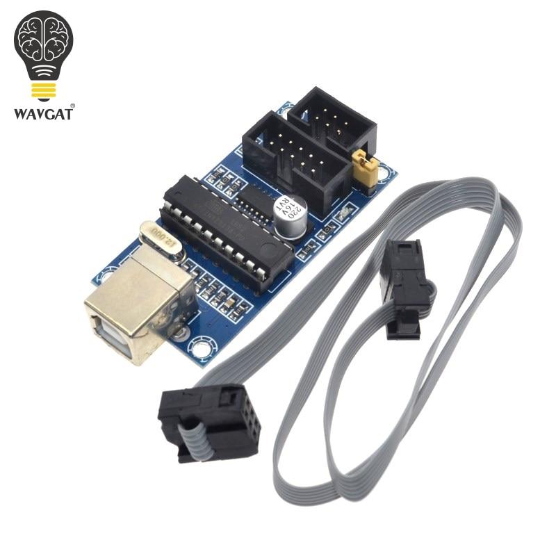 WAVGAT USBTiny USBtinyISP AVR ISP Programmer Bootloader Meag2560 Uno R3 6pin Programming Cable