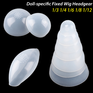 Doll-specific Fixed Wig Headgear Silicone Headgear for 1/3 1/4 1/6 1/8 1/12 Doll DIY Anti Slip Anti Staining Hair Wigs Cover(China)