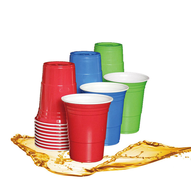 10Pcs/Set  Party Cup Bar Restaurant Supplies Household Items For Home Supplies 450ml Red Disposable Plastic Cup