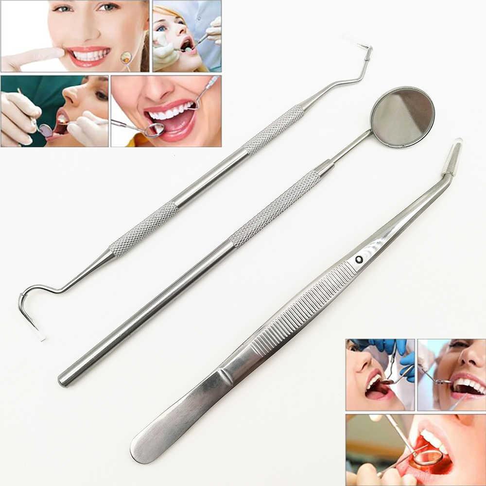 9 set diş ayna kiti diş hekimliği Lab ağız ayna diş hekimleri toplama aleti diş ölçekleyici diş hekimi araçları diş malzemeleri kitleri 3 adet/takım