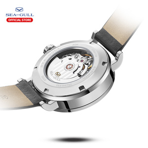 Image 3 - Seagull Men and Women Watch Fashion Personality Mechanical Watch Calendar Waterproof Leather Couple Watch 819.97.6052