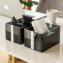 Прозрачная ткань коробка Простая Современная книжная коробка Домашний акриловый пульт дистанционного управления коробка для хранения гостиной оргстекло WF8081138