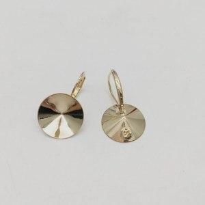 Image 2 - Ms.Betti 14Mm Rivoli Oorbellen Bevindingen 1122 Oostenrijkse Crystal Copper Instellingen Met Franse Lever Terug Voor Sieraden Diy Maken