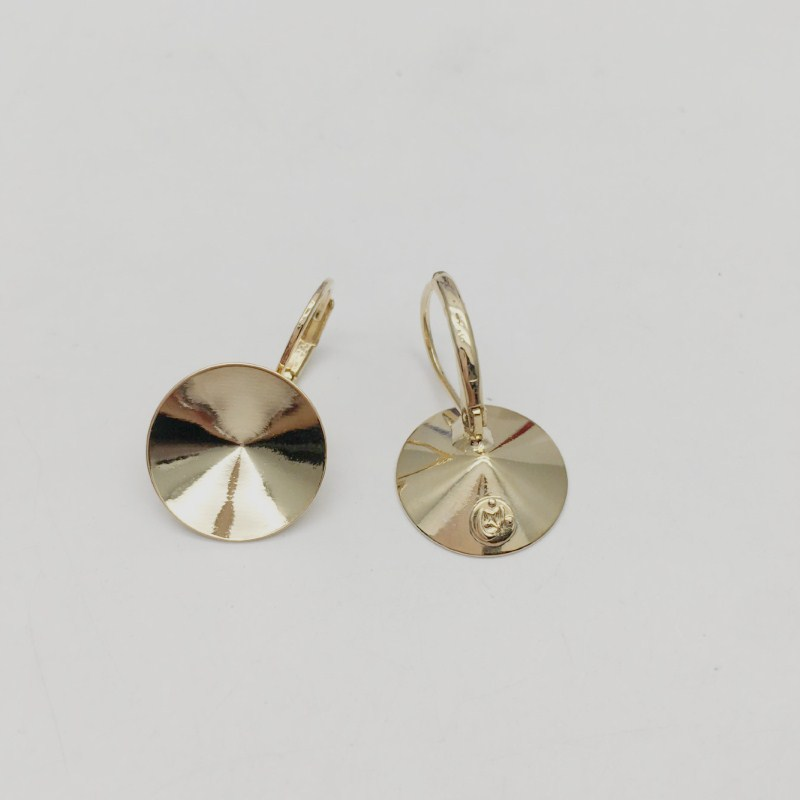 Image 2 - Ms.Betti 14mm rivoli earrings findings with French lever back for Jewelry DIY makingJewelry Findings & Components   -