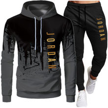 2021 Thin Casual Men Sets Clothing Fashion Tracksuit Sportsuit Hoodies Sportswear Hooded Sweatshirt+Pant Pullover Two Piece Set