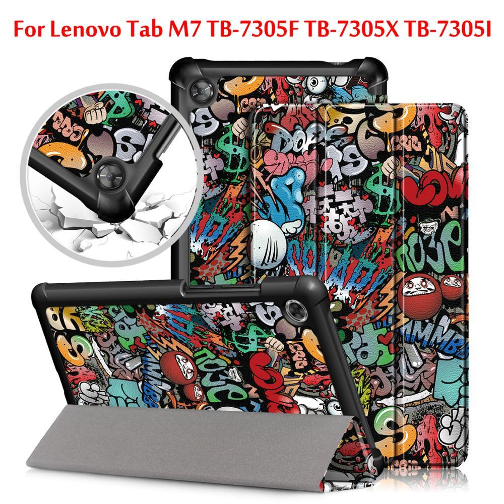 Slim Magnetic Folding Cover Case For Lenovo Tab M7 TB-7305F TB-7305X TB-7305I Tablet Cover For Lenovo Tab M7 Case