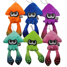 6 color squid plush toy cartoon anime statue creative childrens gift inkjet animal Soft Stuffed Pendant WJ089