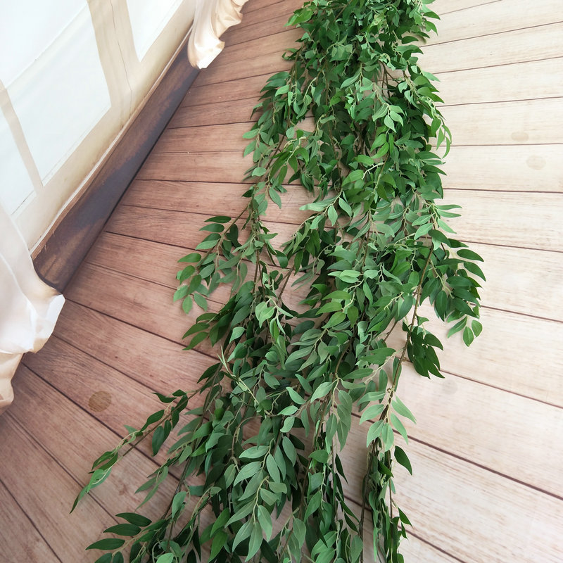 190CM Artificial Wedding Decoration Fake Vine Plant Leaf Garland Home Garden Wall Eucalyptus