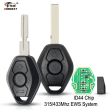 Dandkey Car Remote Key For BMW EWS Sytem E38 E39 E46 X3 X5 Z3 Z4 1/3/5/7 Series 315/433MHz ID44 Chip Blank Key Shell Transmitter