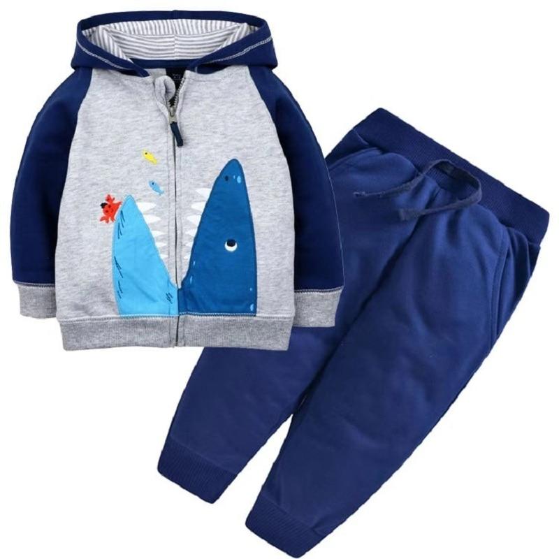 Одежда для маленьких девочек пальто с капюшоном с длинными рукавами и вышитым единорогом+ штаны, г. Весенняя одежда для маленьких мальчиков комплект для малышей, одежда для малышей - Цвет: 6