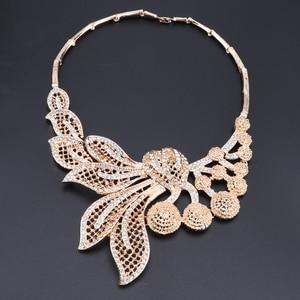 Image 3 - Bridal Gift Nigerian Wedding African Beads Jewelry Set Brand Woman Fashion Dubai Gold Color Jewelry Set Wholesale Design