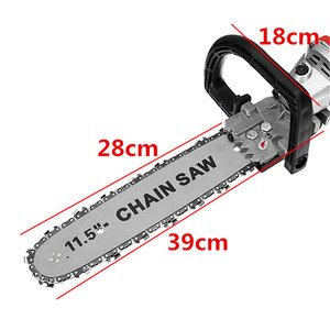 Image 5 - 1000W 11000rpm 6 Speed Adjustable Electric 100 Angle Grinder + M10 Chainsaw Woodworking Cutting Chainsaw Bracket Change Grinder