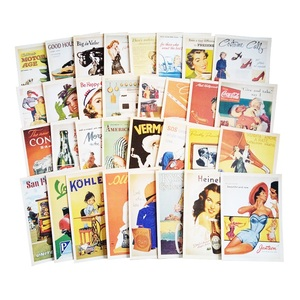 Image 4 - 7packs/lot Students DIY Cards 32Pcs/set Vintage European style card set memory Postcard Greeting Card Gift Fashion wholesale