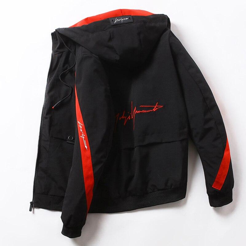 Men Bomber Windbreaker Jacket Hip Hop Streetwear Male Clothes Autumn Spring Cargo Jackets Women Sportwear Chaqueta Hombre ,GA399