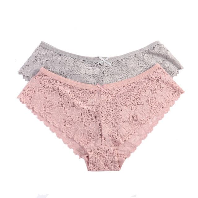 3Pcs/Pack Soft Transparent Briefs Panties #P1914 3