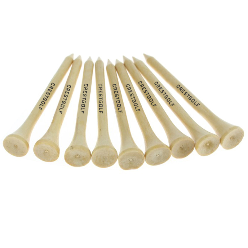 1000pcs/lot Custom Logo Printed Accept  70mm, 54mm Wooden Golf Tees Several Colors Available Professional Golf Accessories