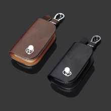 Car Brand Leather Key Bag 86 Kinds of Fashion Logo Chain Zipper Wholesale