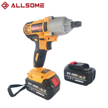 Screwdriver Drill Impact-Wrench Cordless Electric Two-Batteries ALLSOME 320nm 12000mah