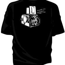 -Original ilustraciones Hasselblad vintage Cámara camiseta hecho en Suecia