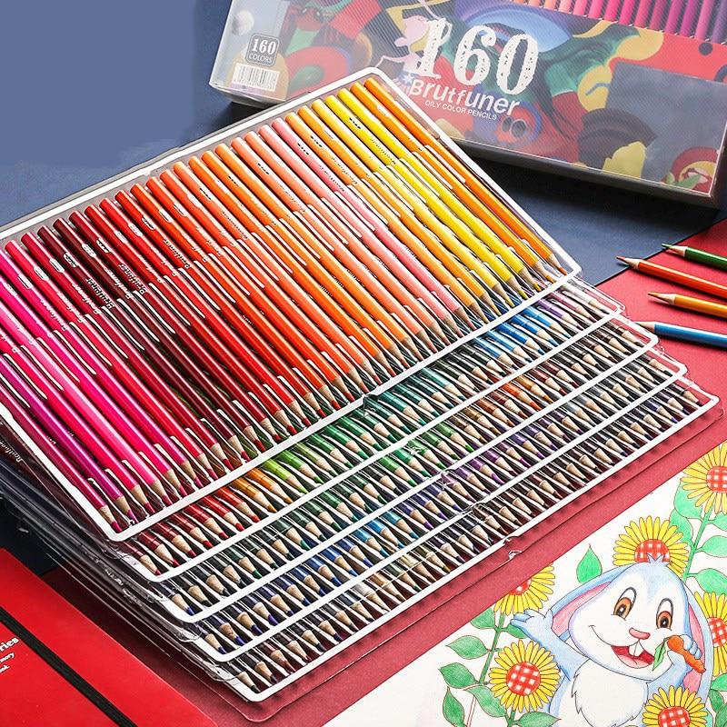 Andstal 48/72/120/160/180 Professional Oil Color Pencil Set Watercolor Drawing colored pencils wood colour coloured pencils kids 2