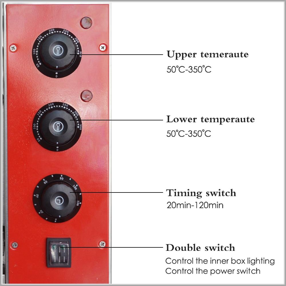 XEOLEO horno de Pizza máquina horno de pan horno eléctrico comercial de acero inoxidable hornos eléctricos con pizarra 220/380V 4200W - 4